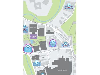 Vaccine Centre car park map